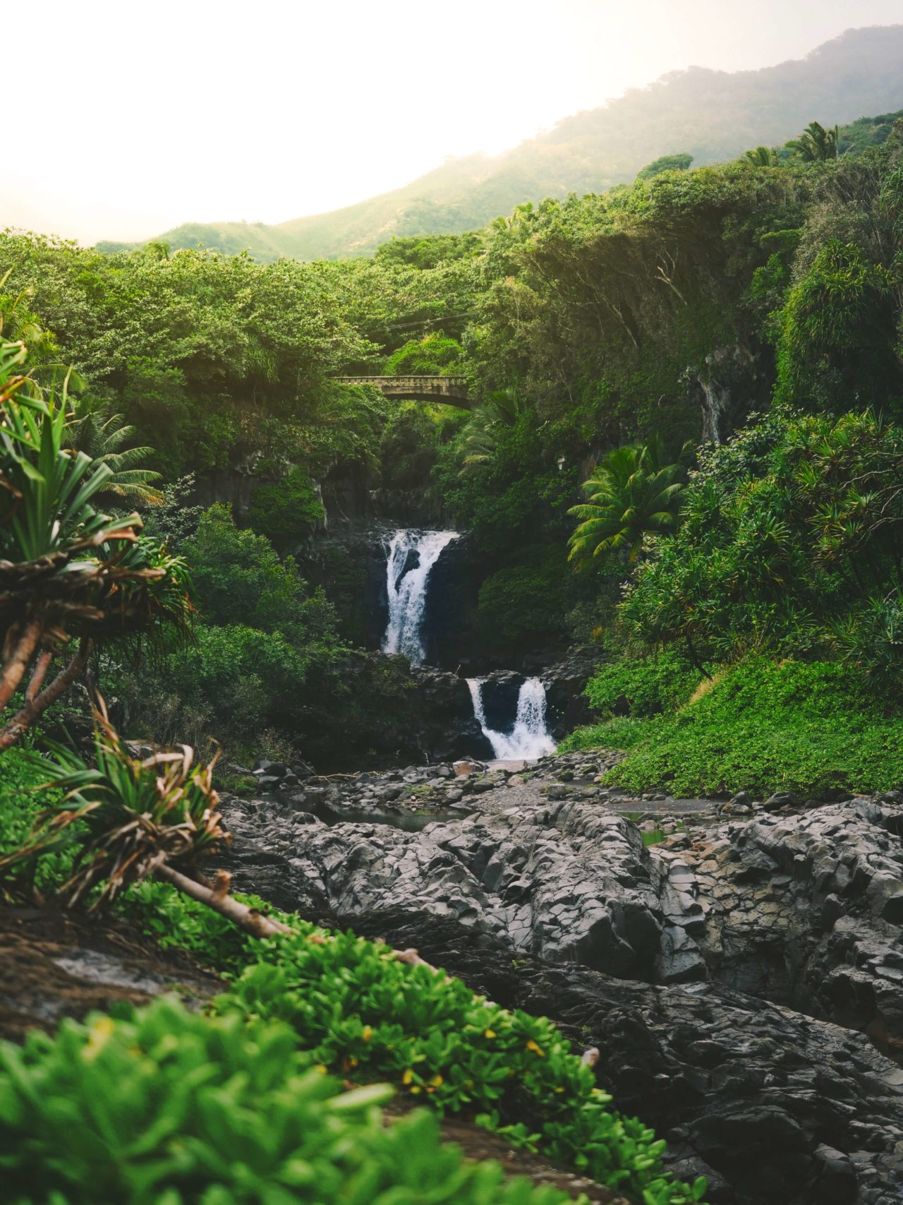 Waterfalls in Hana, Maui, Hawaii