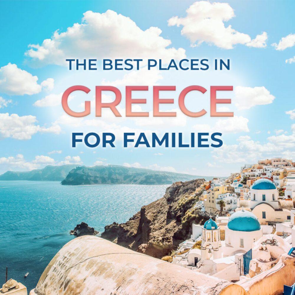 Are you planning a trip to Greece with kids? It can be hard to decide where to go on a Greece family trip. We've rounded up everything from Athens and mainland Greece to the best Greek islands for families. #Greece #familytravel #travel
