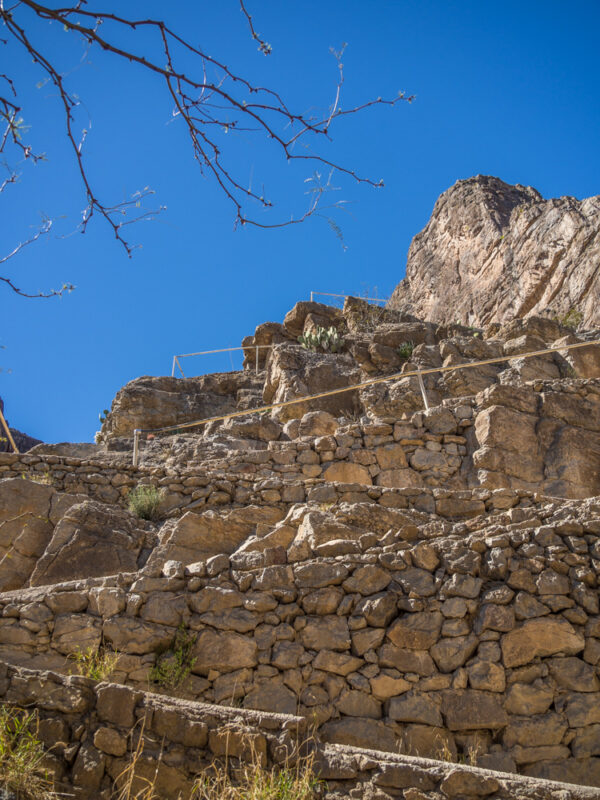 rocky ramps on the hiking path in Santa Elena Canyon, Big Bend, Texas