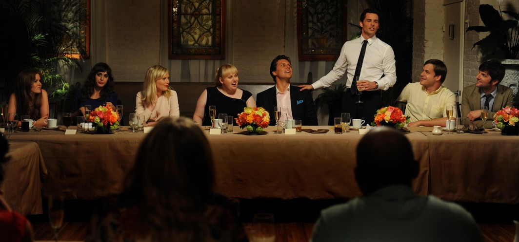 Adam Scott,Isla Fisher,James Marsden,Kirsten Dunst,Lizzy Caplan,Rebel Wilson