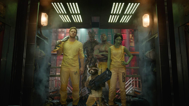 Bradley Cooper,Chris Pratt,Dave Bautista,Vin Diesel,Zoe Saldana