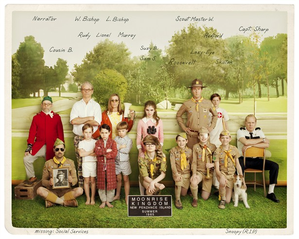 Bill Murray,Bruce Willis,Edward Norton,Frances McDormand,Jason Schwartzman,Owen Wilson,Tilda Swinton