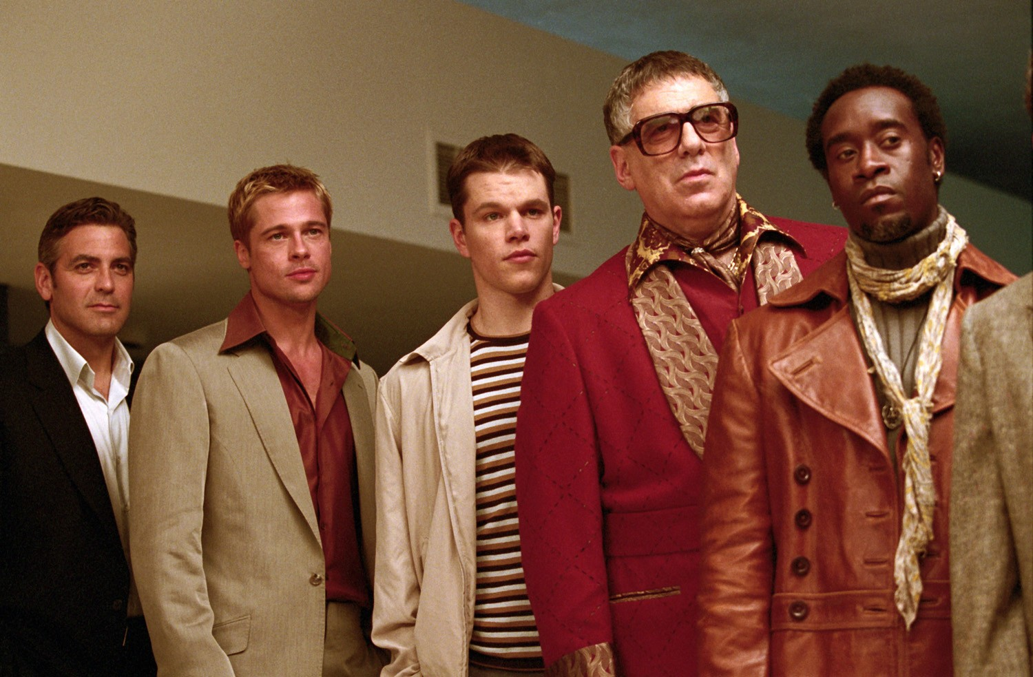 Brad Pitt,Don Cheadle,Elliott Gould,George Clooney,Matt Damon