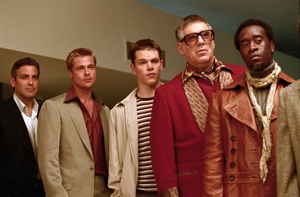 Brad Pitt,Don Cheadle,Elliott Gould,George Clooney,Matt Damon