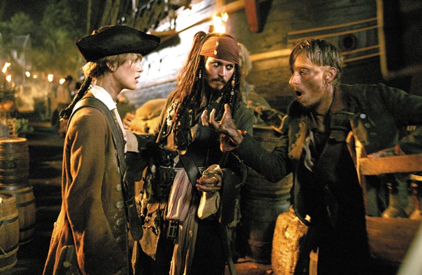 Johnny Depp,Keira Knightley,Mackenzie Crook