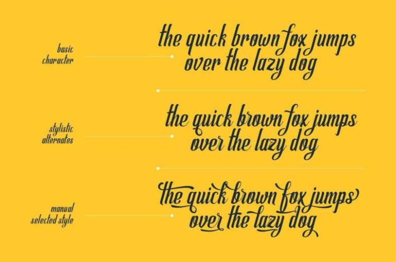 Best Selling Gorgeous Fonts Allema4