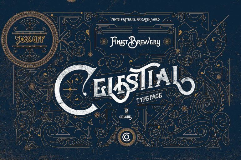 Best Selling Gorgeous Fonts Celestial1