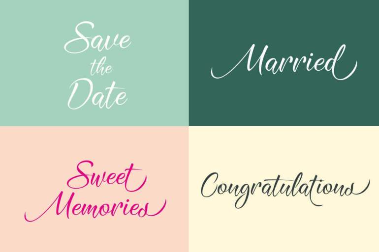 Best Selling Gorgeous Fonts Save-the-date
