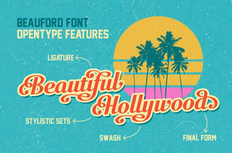 Best Selling Gorgeous Fonts beauford2