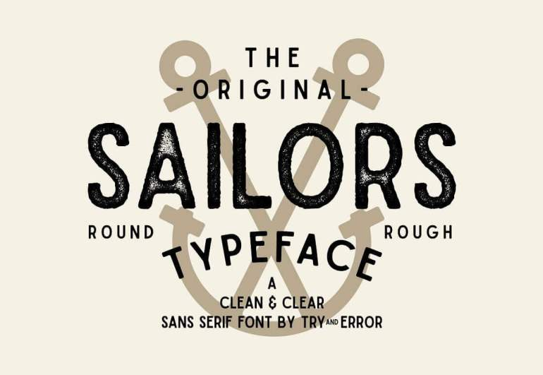 Best Selling Gorgeous Fonts sailors10