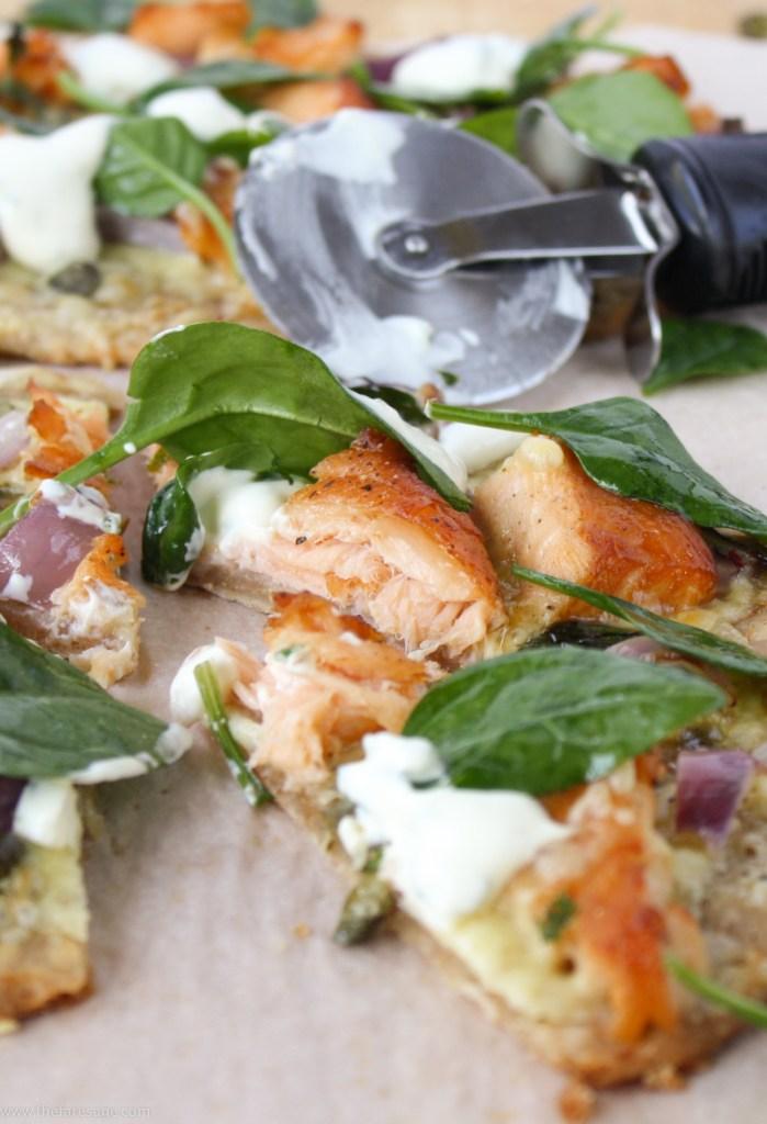 Flatbread with smoked salmon