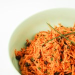 A crisp, fresh, delicious raw carrot salad from The Fare Sage