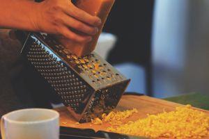 Shredding Cheddar Cheese