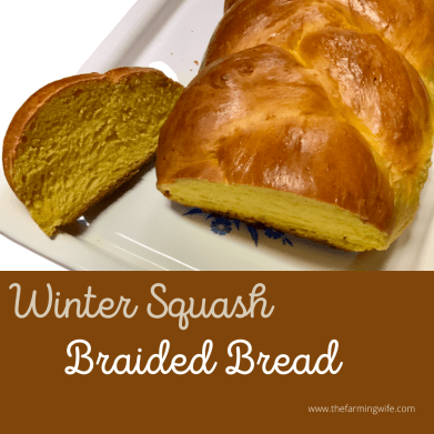 winter squash braided bread recipe
