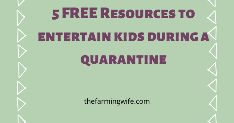FREE Ways to Entertain Kids During a Quarantine
