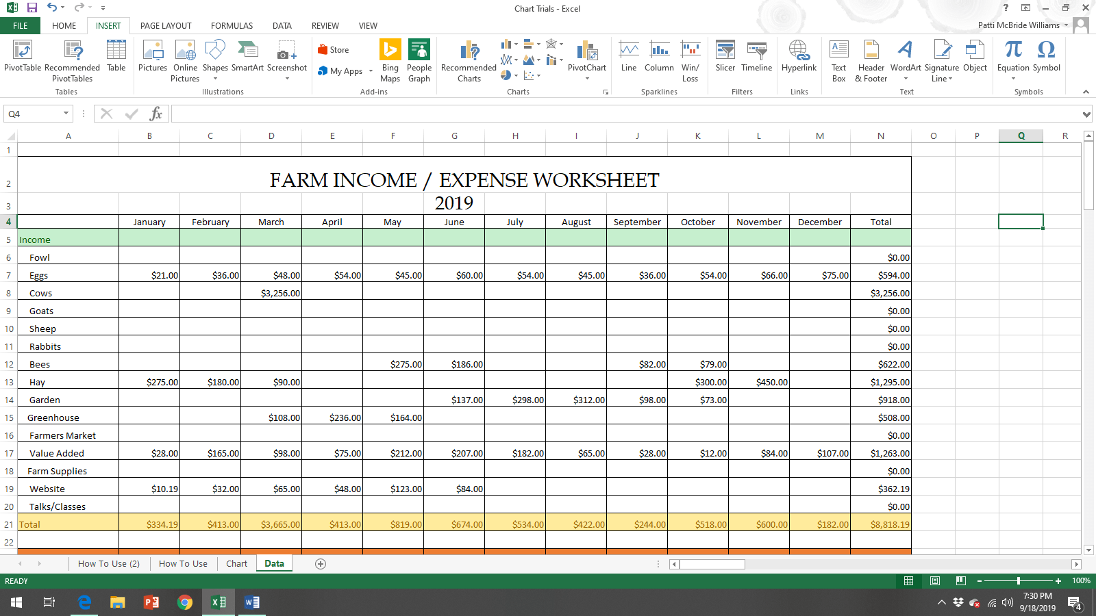 Income Amp Expense Spreadsheet For Homesteaders