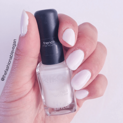 [french white nail polish by Kiko cosmetics]