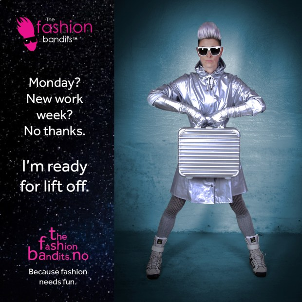 The Fashion Bandits Benedikte St.Pierre is ready for a trip to the moon...