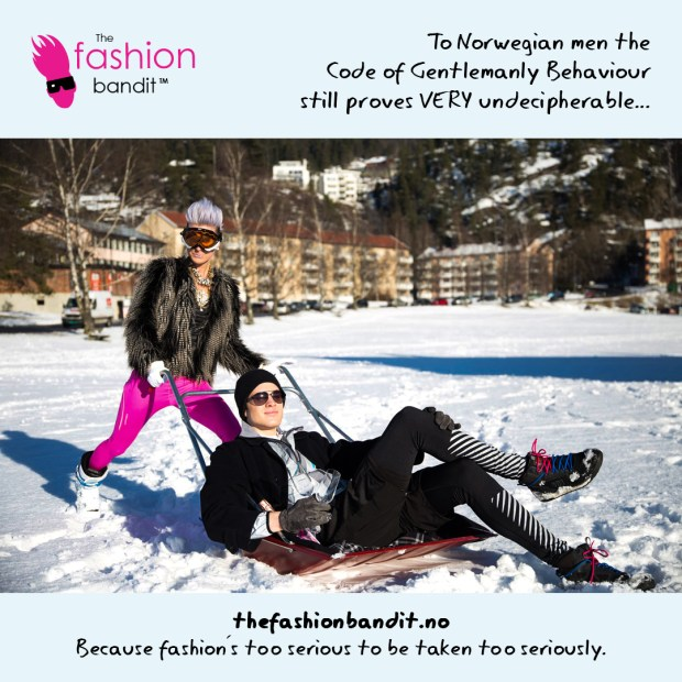 The Fashion Bandit Benedikte St.Pierre and Jørgen Tennøe are basking in the snow