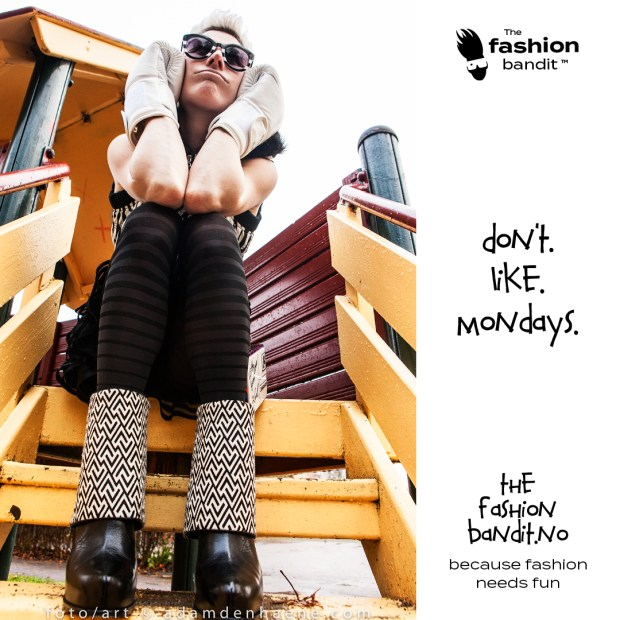 The Fashion Bandit Benedikte St.Pierre doesn't like Mondays and is sulking