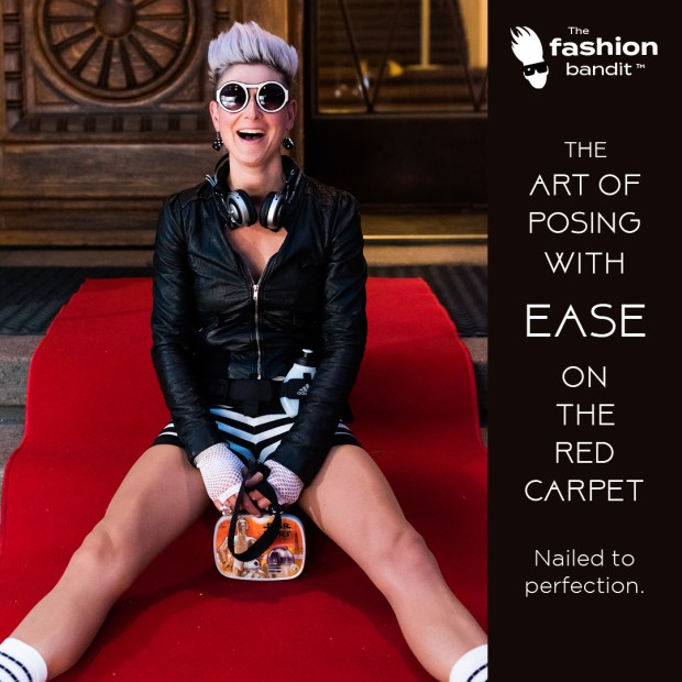 The fashion Bandit Benedikte St.Pierre is posing with ease on the red carpet