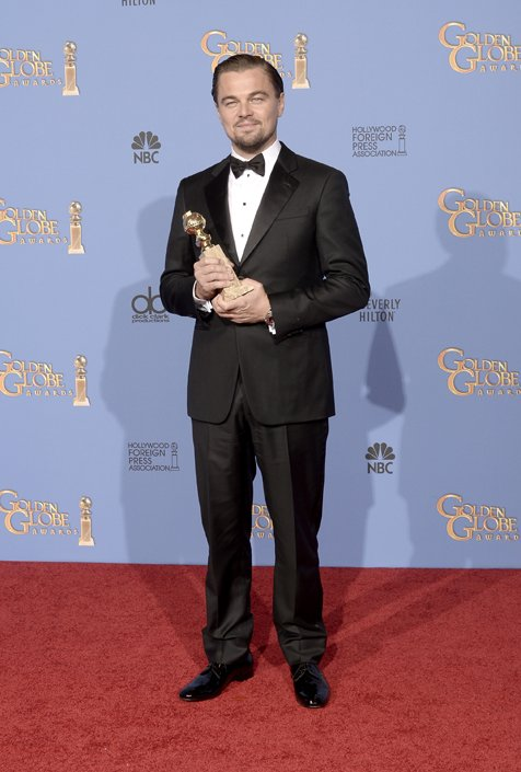 Leonardo DiCaprio Wears Giorgio Armani To The 2014 Golden Globes