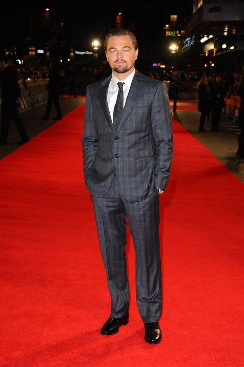 Leonardo Dicaprio Donns Giorgio Armani For The London Premier Of The Wolf Of Wall Street