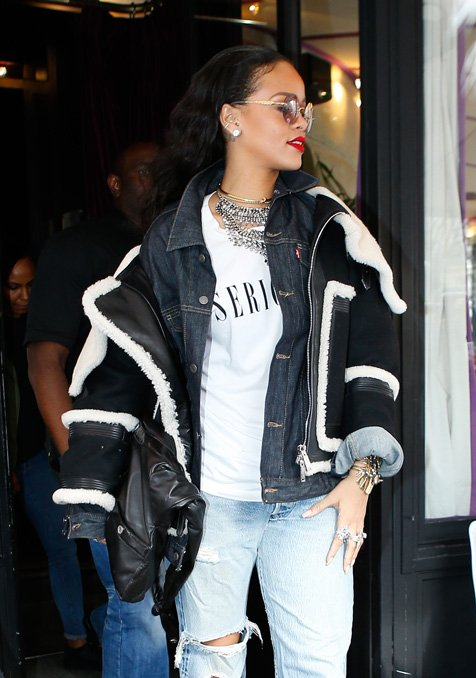 RIHANNA Spotted In Paris Wearing The Girl CHANEL Bag