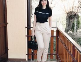 Pantaloni a sigaretta con stampa coccodrillo - Femme Luxe
