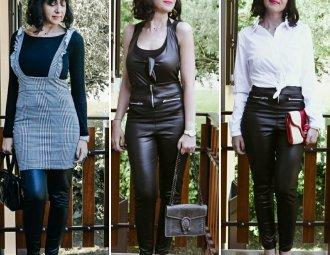 Come abbinare i leggins in pelle - 3 modi per farlo - outfit donna - The Fashion Cherry Diary