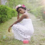 What I Wore: Lace Dress and Floral Heels