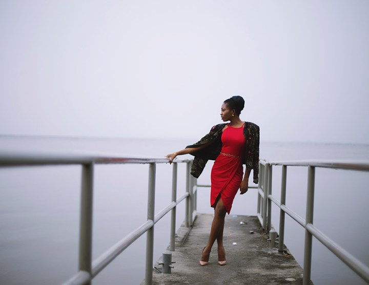 TFE X Konga: Le Rouge Double Strap Wrap Dress