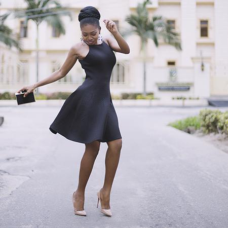 TFE X Konga: Rebel Double Strap Skater Dress