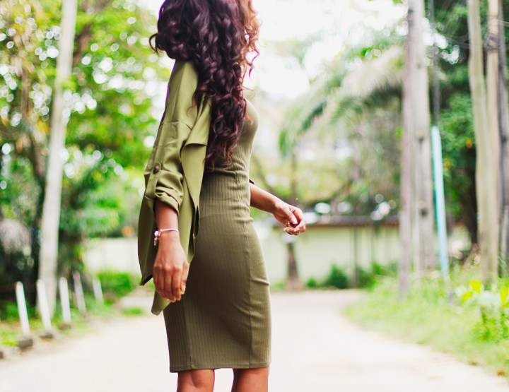 What I Wore: Khaki Green Monochrome