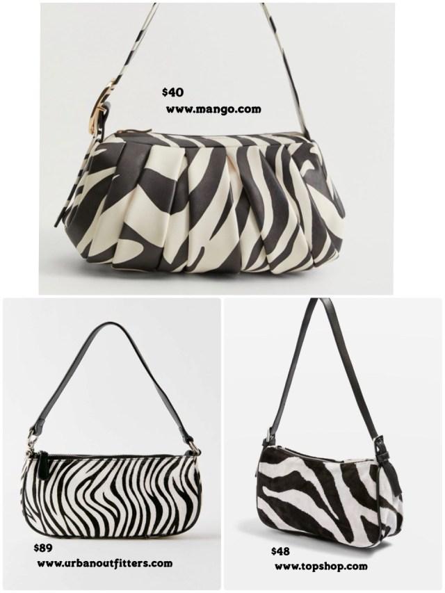Zebra baguette bags