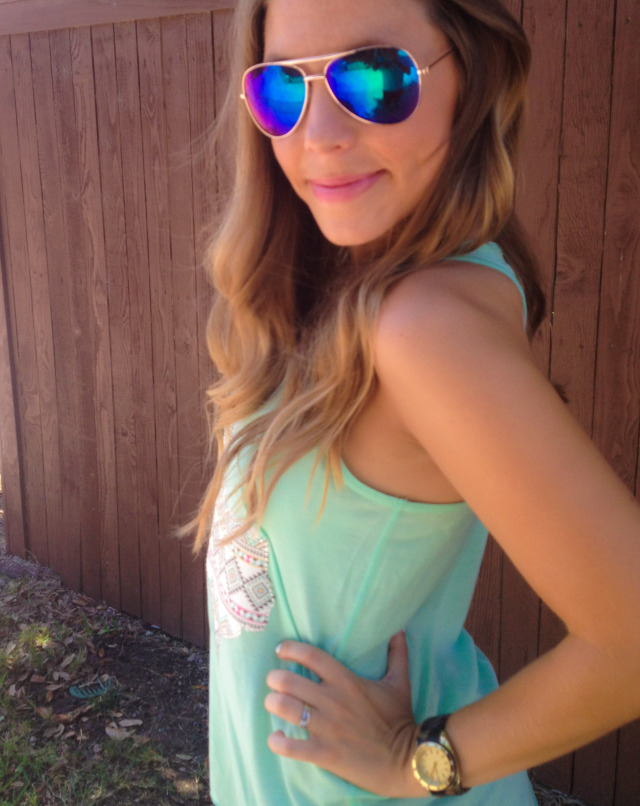 Blue Aviators Texas Tank Dallas Blogger