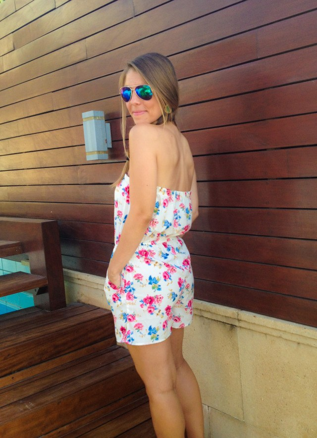 Forever 21 Strapless White Floral Romper Fashion Blog Rhodes