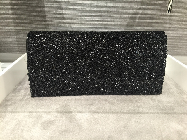 David's Bridal Black Evening Clutch