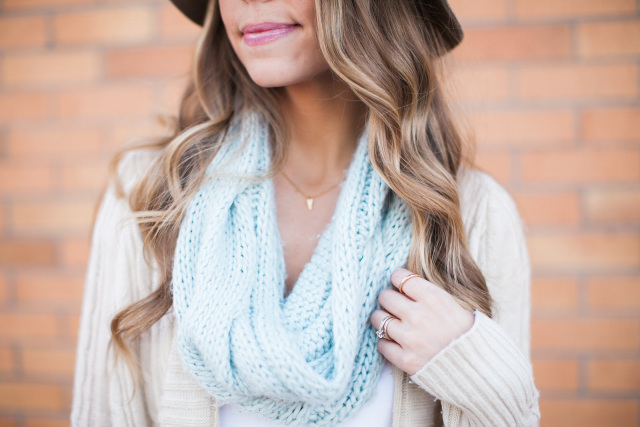 Mint Cable Knit Scarf The Limited