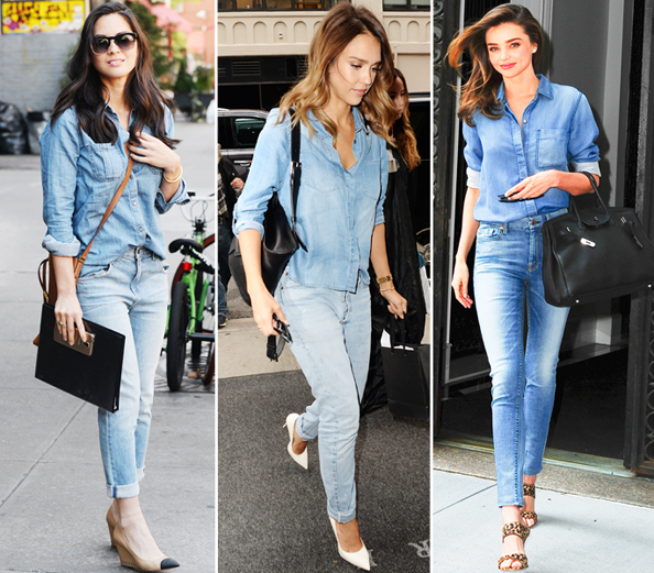 Jessica Alba Mirana Kerr Denim on Denim