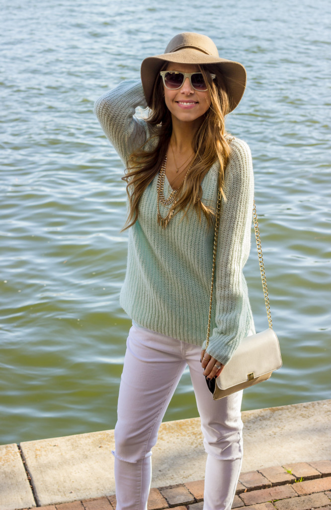 Dallas Fashion Blog Mint and White Outfit
