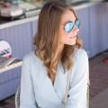 Mirrored Blue Aviators Fashion Blog