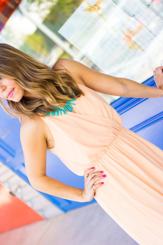 Peach-Maxi-Dress