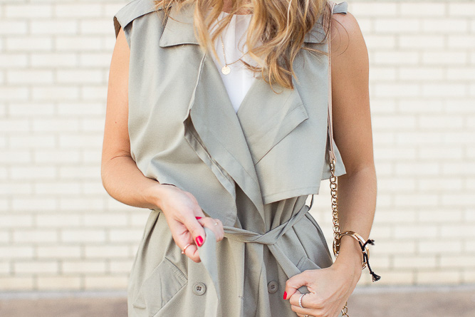 Olive-Sleeveless-Trench-Coat