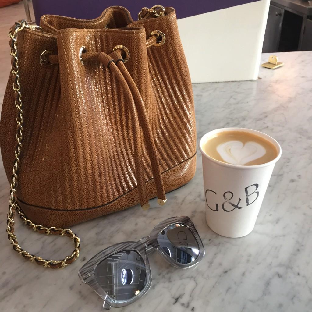 Henri Bendel Brown Bucket Bag