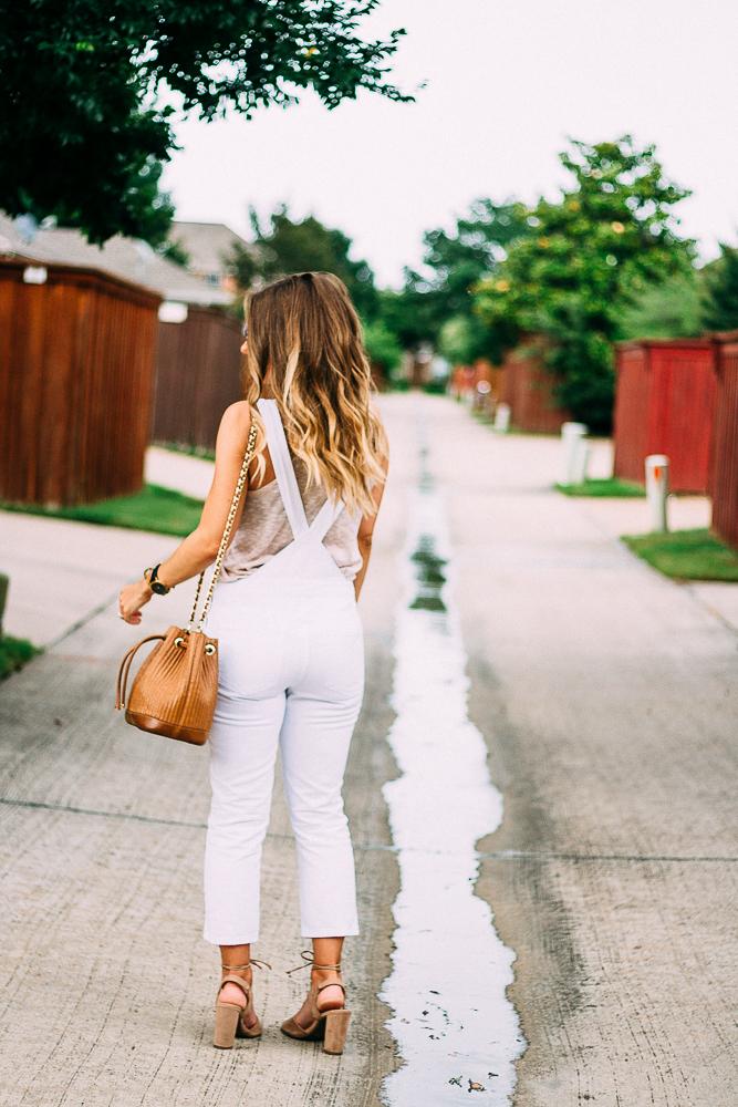 white denim skinny overalls trend