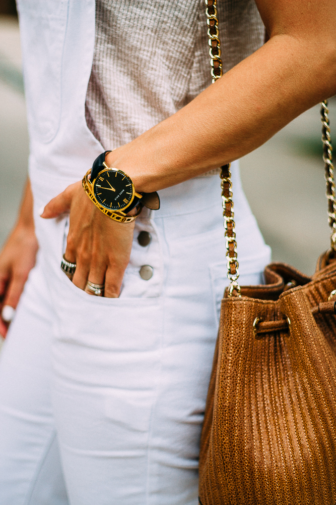 Black and Gold Watch with gold cuff