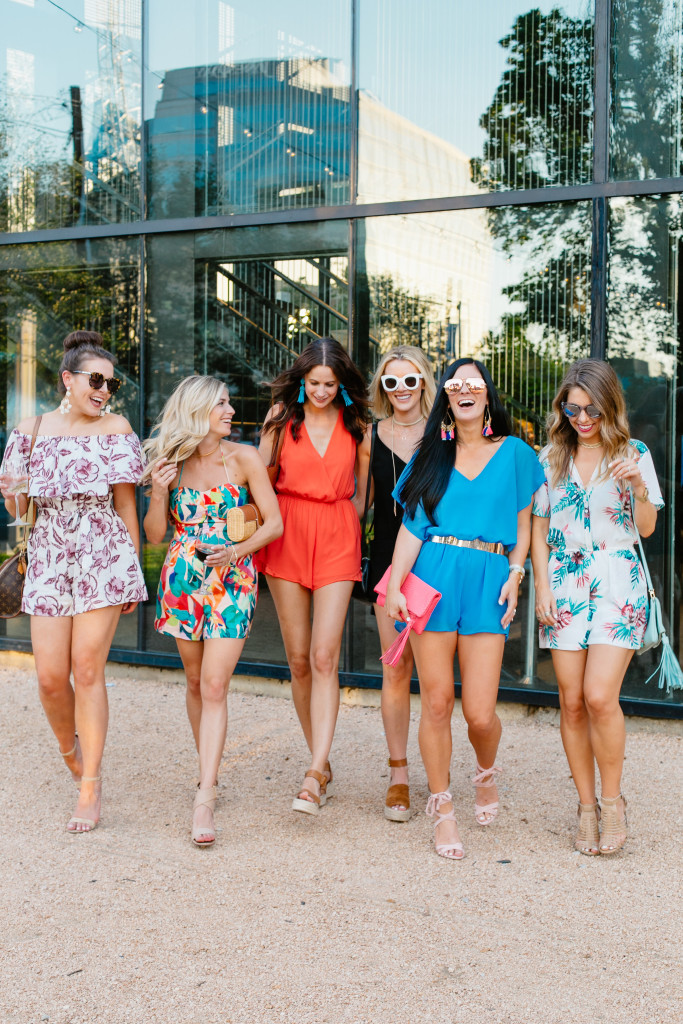 Fashion Bloggers wearing different rompers
