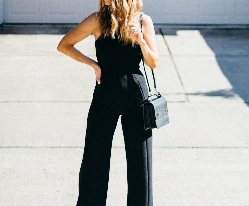 Black Halo Black Jumpsuit