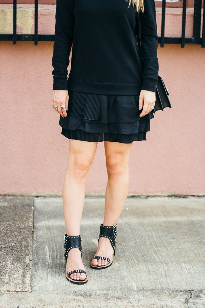black ruffle skirt french connection